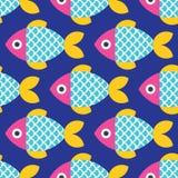 seamless fiskmodell Royaltyfri Fotografi