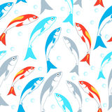 seamless fiskmodell Det kan vara nödvändigt för kapacitet av designarbete Royaltyfria Bilder