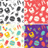 Seamless fitness pattern Royalty Free Stock Images