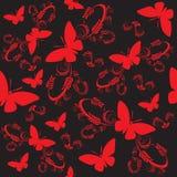 seamless fjärilar royaltyfri illustrationer