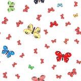 seamless fjärilsmodell Arkivbilder