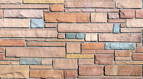 Seamless Flagstone Wall Background Stock Images