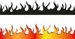 Seamless flame border Stock Photography