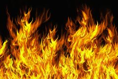 Seamless flames Royalty Free Stock Images