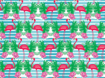 Seamless flamingo bird pattern Royalty Free Stock Photo
