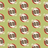 Seamless flamingo pattern Stock Photo