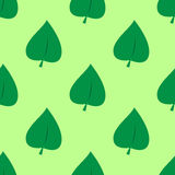 Seamless flat leaves pattern. Seamless flat green leaves pattern Royalty Free Stock Photography