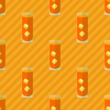Seamless flat pattern with cocktail glasses Royalty Free Stock Photos
