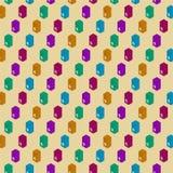 Seamless flat pattern garbage trash bin. stock illustration