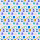 Seamless flat web icons and simbols pattern Royalty Free Stock Images