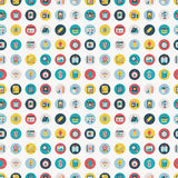 Seamless flat web pattern Royalty Free Stock Photo