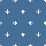 Seamless fleur-de-lis pattern Royalty Free Stock Photo