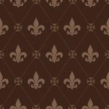 Seamless Fleur De Lis Pattern. Seamless Fleur De Lis brown pattern Stock Photography
