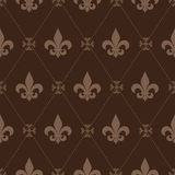Seamless Fleur De Lis Pattern Stock Photography