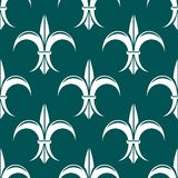 Seamless fleur-de-lis royal white pattern Stock Images