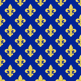 Seamless of a fleur-de-lys repeating pattern Stock Photography