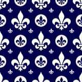 Seamless Fleur de Lys Tile [1] illustrazione di stock