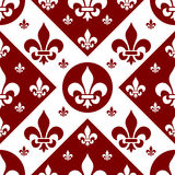 Seamless Fleur de Lys Tile [2] Royalty Free Stock Image