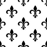 Seamless fleur-de-lys wallpaper Stock Image