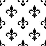 Seamless fleur-de-lys wallpaper Stock Image