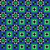 Seamless Floor Tiles Pattern. Pattern inspired by Roman and Arab mosaics Stock Photo