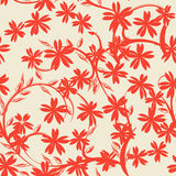 Seamless floral. Red flowers, seamless floral background, pattern Royalty Free Stock Image