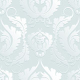 Seamless Floral 3d Pattern Damascus. Elegant Large Flowers On A Light Background. Can Be Used To Design Fabrics, Wallpaper, Web Pa Royalty Free Stock Images