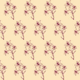 Seamless floral abstract background for design Stock Photography