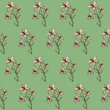 Seamless floral abstract background for design Stock Images