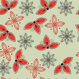 Seamless floral abstract pattern Royalty Free Stock Images