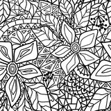 Seamless floral abstract pattern white. Background Stock Image