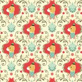 Seamless Floral Animals Pattern A Royalty Free Stock Images