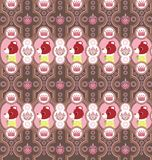 Seamless Floral Animals Pattern C Royalty Free Stock Image