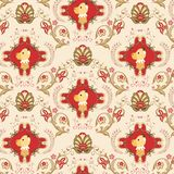 Seamless Floral Animals Pattern E Stock Photography