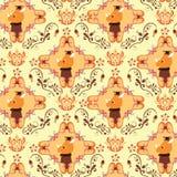 Seamless Floral Animals Pattern F Stock Photo