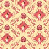Seamless Floral Animals Pattern J Stock Photography