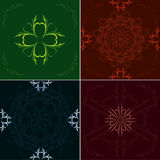 Seamless floral antique pattern Stock Photo