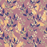 Seamless floral autumn pattern Stock Image