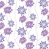 Seamless floral background. Repeat many times. Vector illustration Stock Image