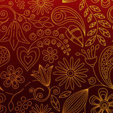 Seamless Floral Background. Or Wallpaper Royalty Free Illustration