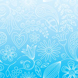 Seamless Floral Background. Or Wallpaper Vector Illustration