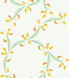 Seamless floral background. Vector illustration for your design Stock Photography