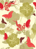 Seamless floral background Stock Images