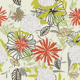 Seamless floral background royalty free stock image