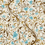 Seamless Floral background. Illustration drawing of floral background Royalty Free Stock Photos