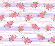 Seamless  floral  background. Seamless  violet floral  background with roses Royalty Free Stock Photos