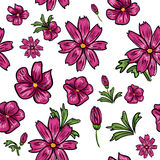 Seamless floral background Stock Photo
