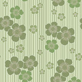 Seamless floral background. Seamless light green floral background Stock Photography