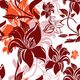 Seamless floral background. Pattern  natural Royalty Free Stock Image