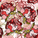 Seamless floral background. Stylish floral seamless pattern background Stock Photography